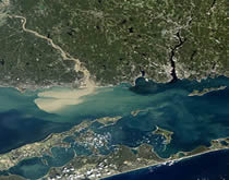 sediment spews aerial from Connecticut river