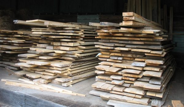 lumber stacked up