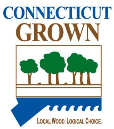 CT grown logo wood
